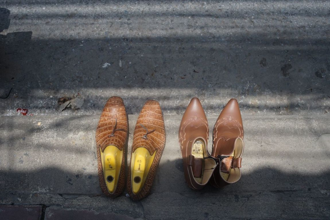 Shoe Shoe Maker Streetphotography Thailand Outdoor Top Pairs Leather Craft Handmade Size
