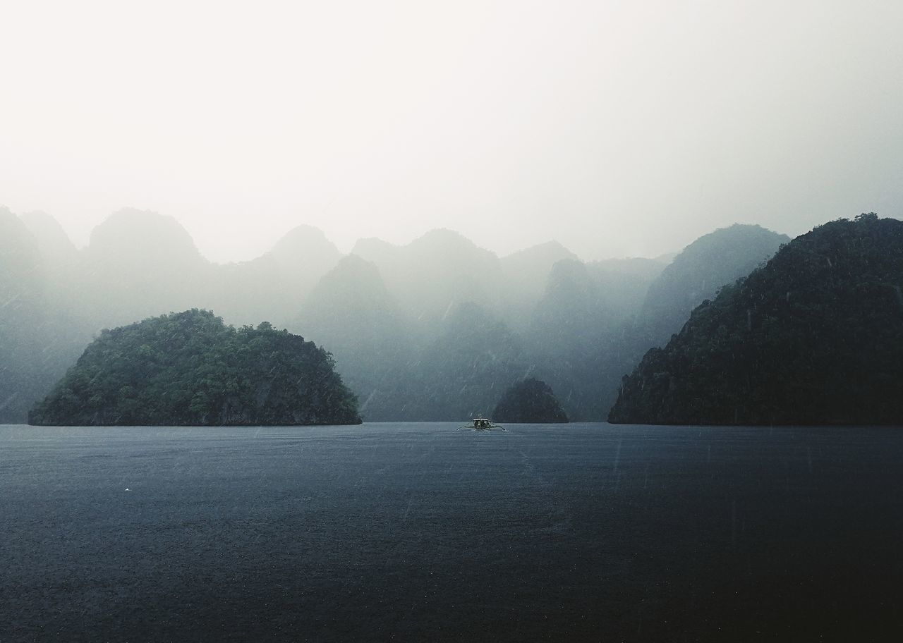 Fog Outdoors Nature Beauty In Nature Water Tree Scenics Lake No People Mountain Day Cold Temperature Sky Sommergefühle Landscape Photography Coron, Palawan Boat Rain Eyeem Philippines EyeEm Selects