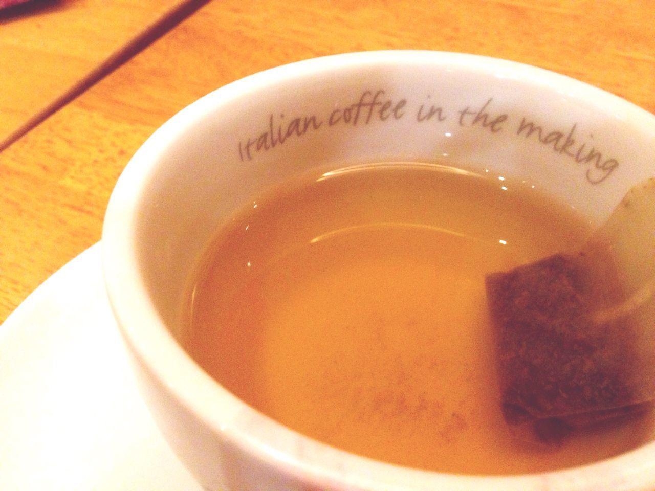 Having a Cup of green tea ... Tea