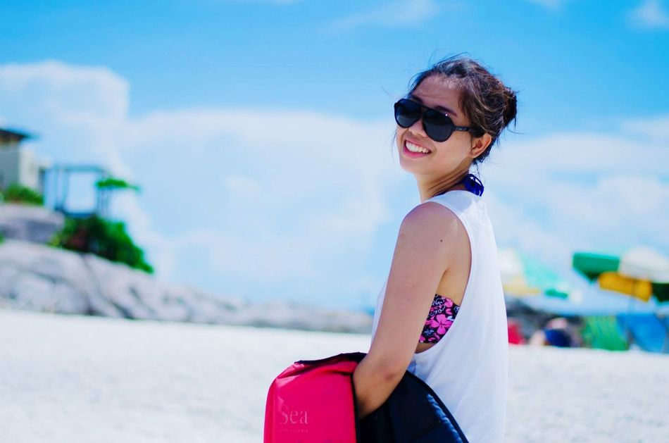 Beach Thailand Bluesky Smile Koh Nangyuan Happy Life Enjoy People Holiday