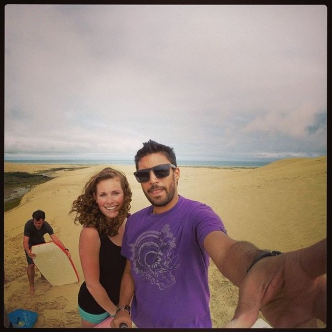 In the top of the top Newzeland Top Capereinga North friend netherlands sun sand sandboard gopro