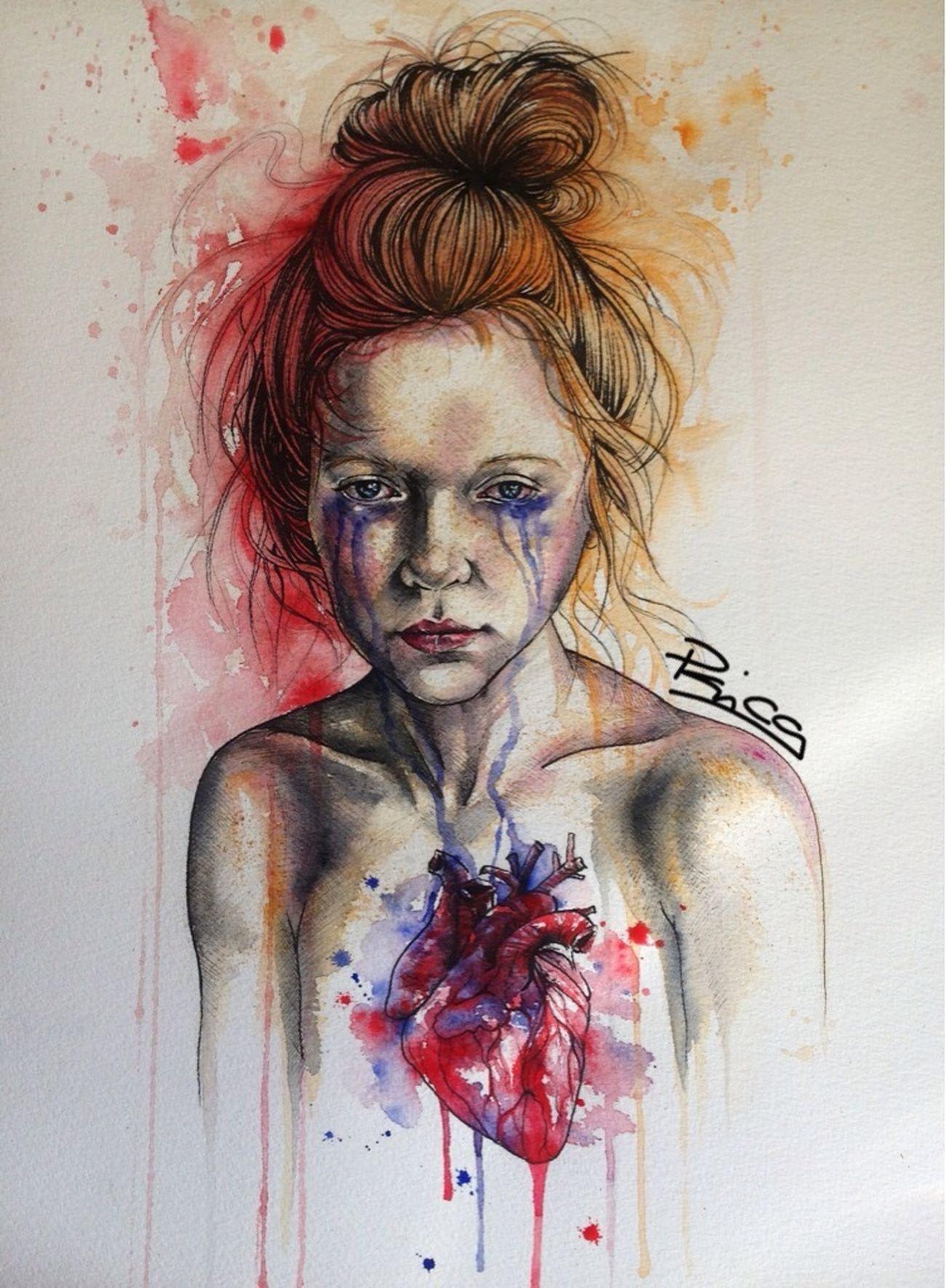 Bleeding heart Art Painting Artist Heart