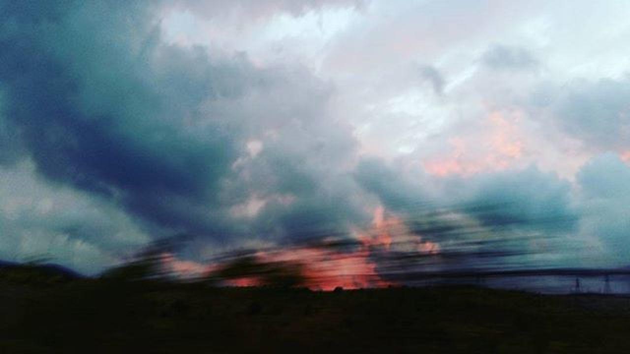 October 🍁 Cloudy Weather Sun Sunset Away Oktober2015 Nofilter