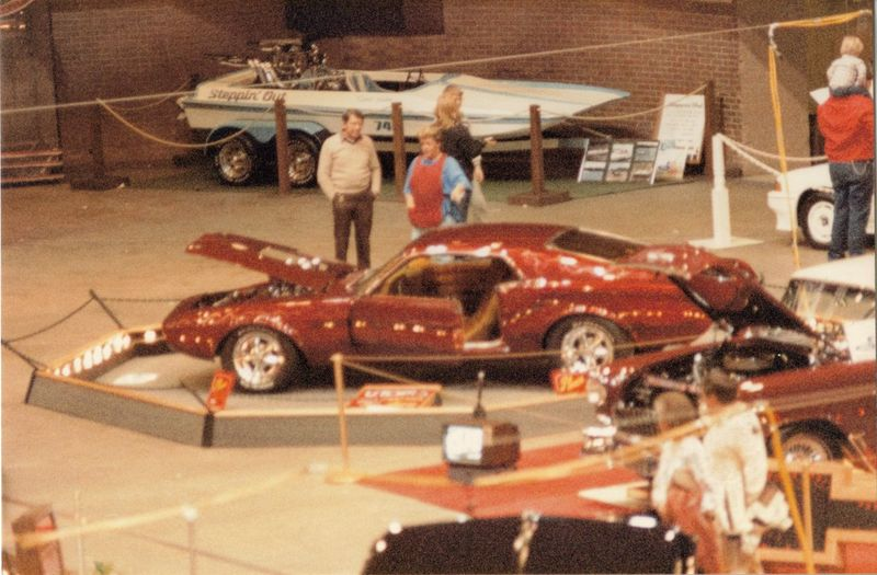 1985 Boat Car Show Casual Clothing City Life Greenville, SC Illuminated Leisure Activity Lifestyles People Print Scan Reflective Shiny