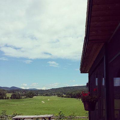 My favorite coffee hangout. Ignewengland Igvermont Coffee Instagood cambridge brownandjenkins sunshine clouds beautiful