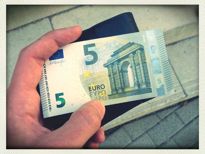 Euro New 5 Euros Geldschein