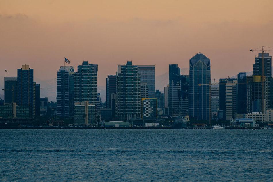 Buildings Cityscape Dusk Dusk In The City San Diego Skyline Sunset Zoom