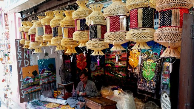 Arrangement Collection Colors Display Market Stall Multi Colored Roadside Shops Shop Varanasi India