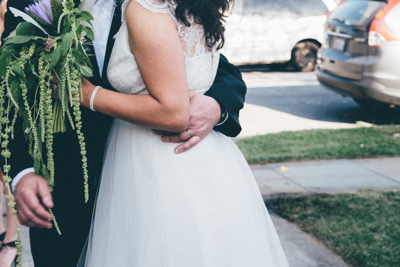 Beautiful stock photos of kiss, Beginnings, Bouquet, Bride, Bridegroom