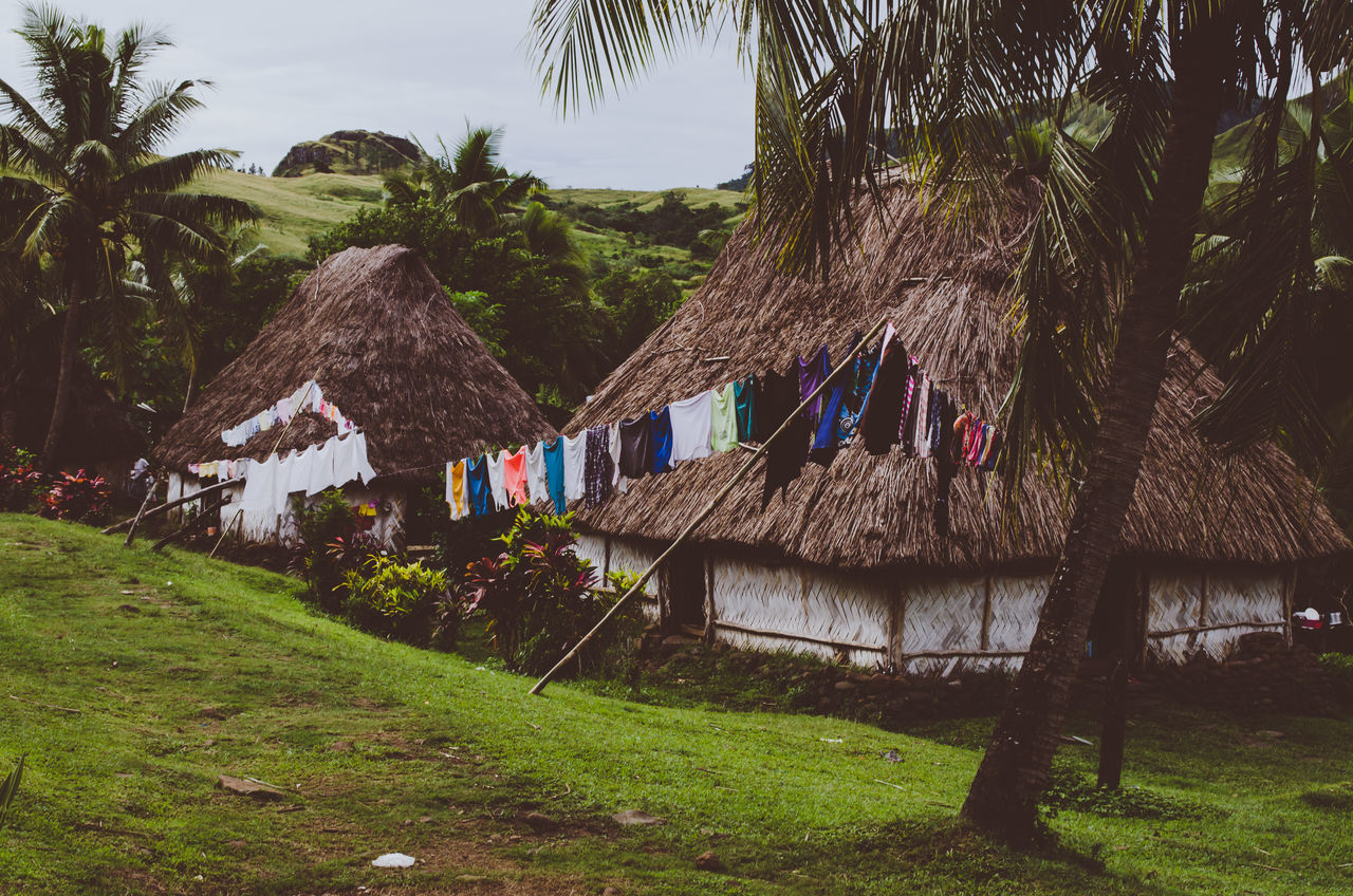 Hangin' out Beauty In Nature Building Exterior Built Structure Bure Clothesline Day Drying Fiji Grass Green Color Hanging Hut Laundry Nature Navala Village No People Outdoors Palm Tree Thatched Roof Tree The Photojournalist - 2017 EyeEm Awards The Street Photographer - 2017 EyeEm Awards Neighborhood Map