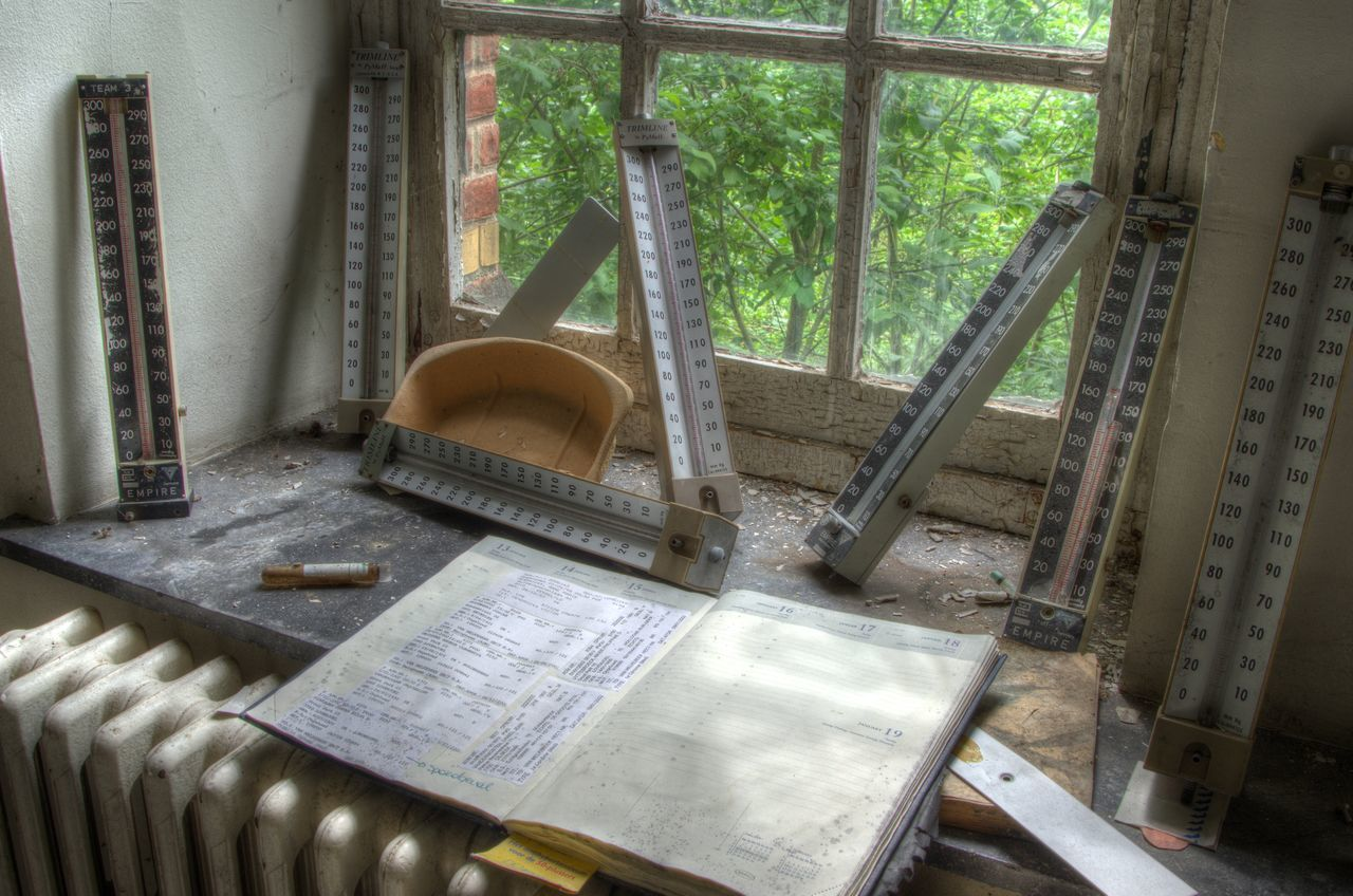 Abandoned Buildings Asylum Record Keeping Thermometer Window