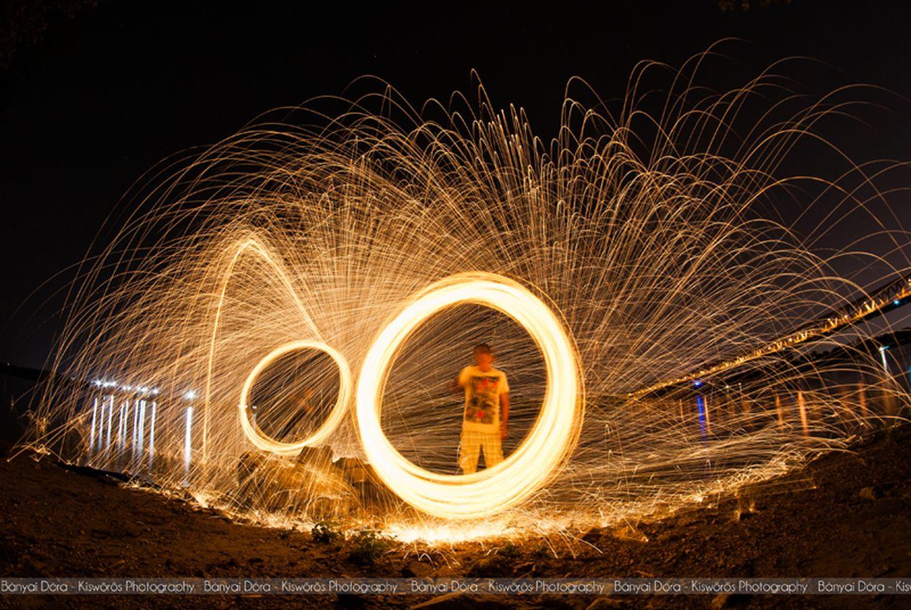 Bányai Dóra - Kiswörös Photography 2014. Budapest, Hungary Steelwool Double Steel Wool Light Painting Long Exposure