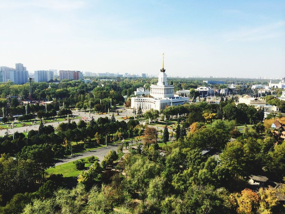 VDNH Summer Sunny Day Trees And Sky Architecture Buildings Summer In Moscow Beautiful City From Russia With Love Amazing View