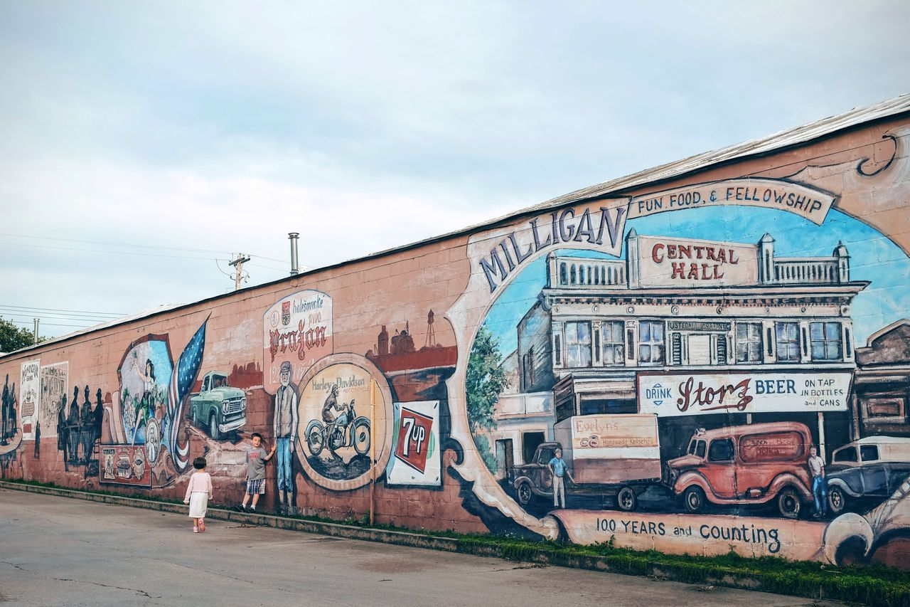 Photo essay, a day in the life. August 24, 2016 Milligan Nebraska 35mm Camera A Day In The Life Architecture Building Exterior Built Structure Camera Work Everyday Lives Eye For Photography Eye4photography  EyeEm Best Shots EyeEm Gallery EyeEmBestPics Eyeemphoto FujiX100S Graffiti Juxtaposition Multi Colored Mural Art Outdoors Painting Photo Essay Shootermag Small Town Stories Storytelling Text