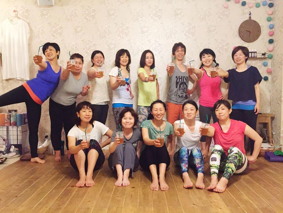 アシュタンガヨガ・スキルアップ講座Vol.5 楽しく終わりました♬ Yoga Yoga Space Siddhi Ashtangayoga Primary Led Class アシュタンガヨガ 広島 スキルアップ講座 Hono Hono