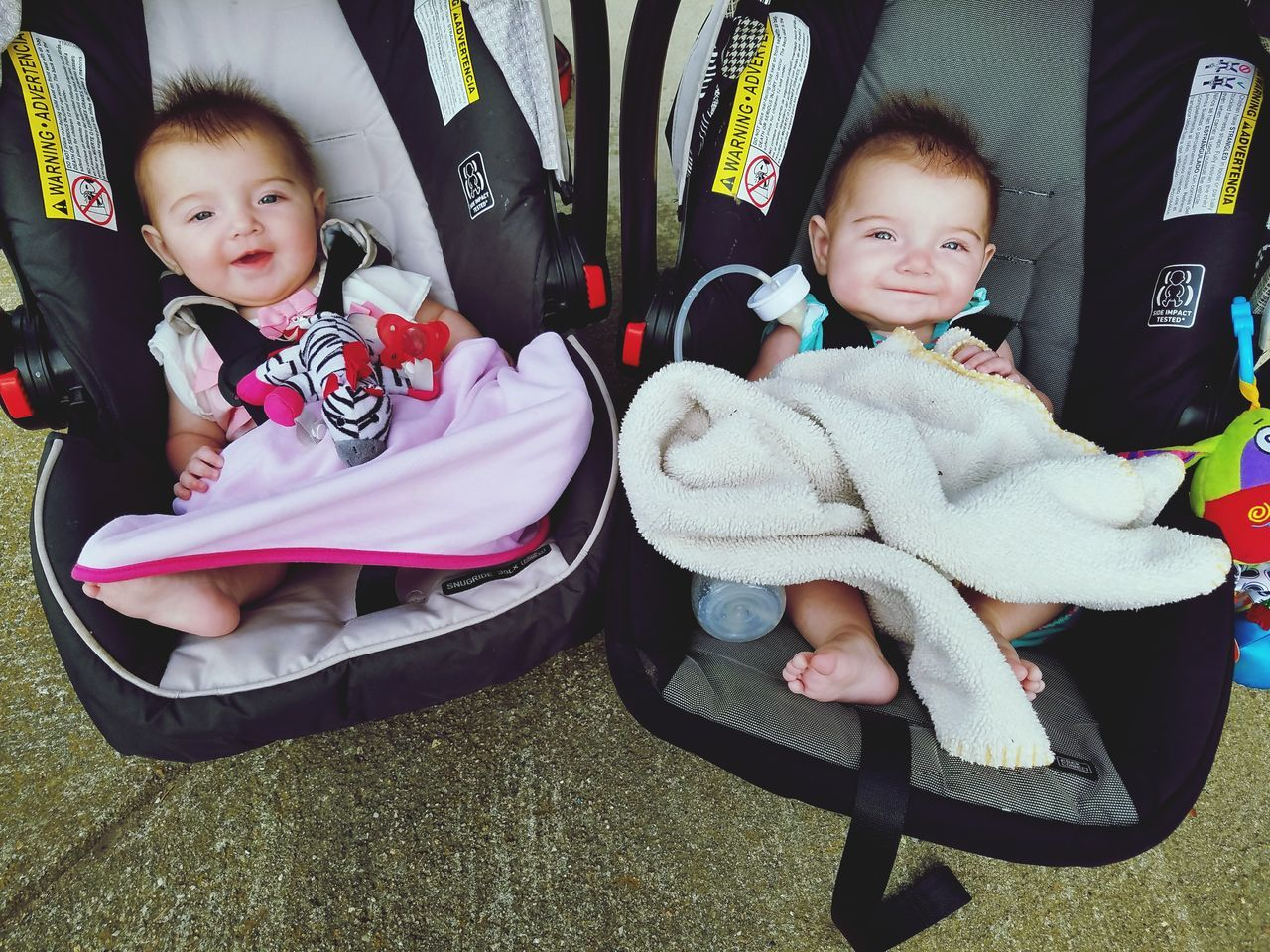 My nieces callie and skye Baby Girls Togetherness Looking At Camera Babies Only