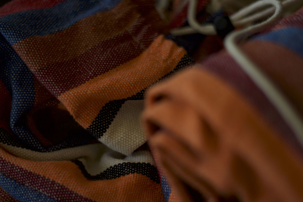 indoors, close-up, selective focus, textile, fabric, no people, day