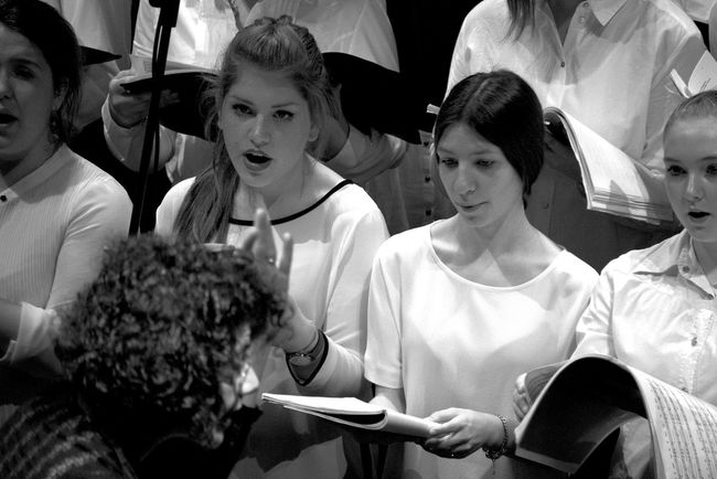 Adult Adults Only Arts Culture And Entertainment Black & White Black And White Blackandwhite Choir  Day Indoors  People Women Young Adult Young Women