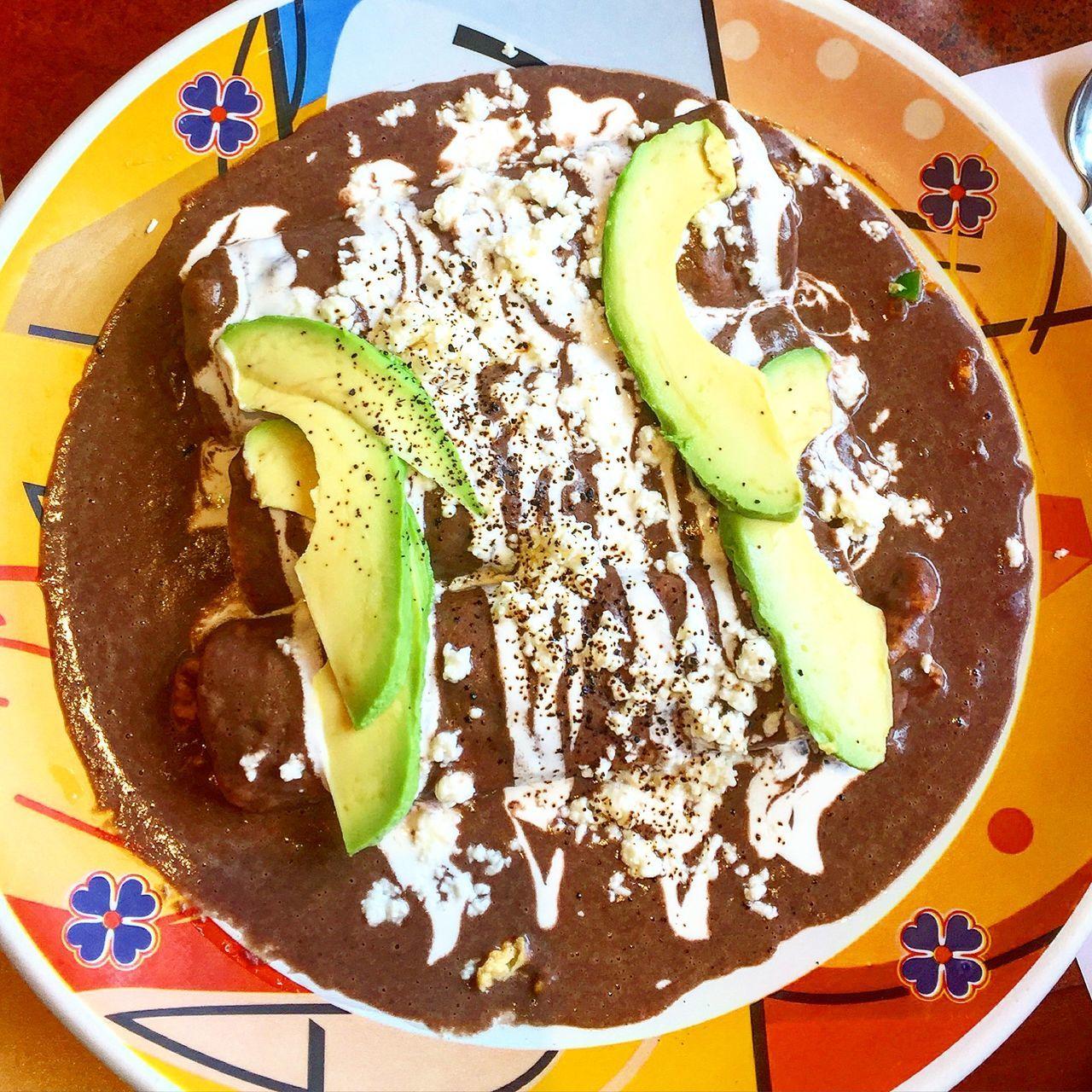 Enfrijoladas with Avocado Breakfast Food Foodporn Yummy Nom Nom Nom Mexico