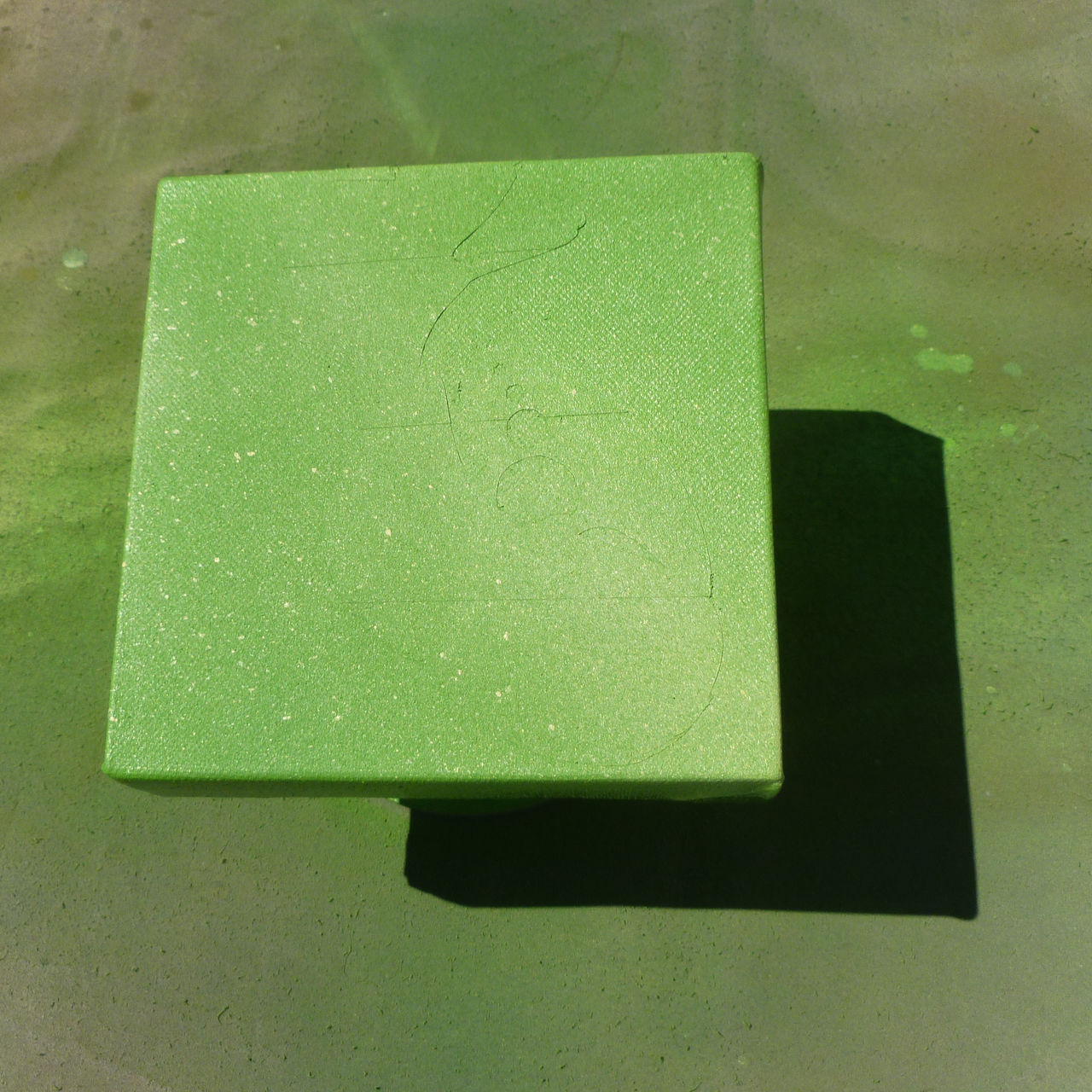 Painted stretched canvas close-up - green - from above Abstract Abstract Backgrounds Backgrounds Canvas Cast Shadows Close-up Day Flat Green Color Looking Down No People Offset Outdoors Paint Shadow Shadow And Light Shift Square Squares Texture View From Above
