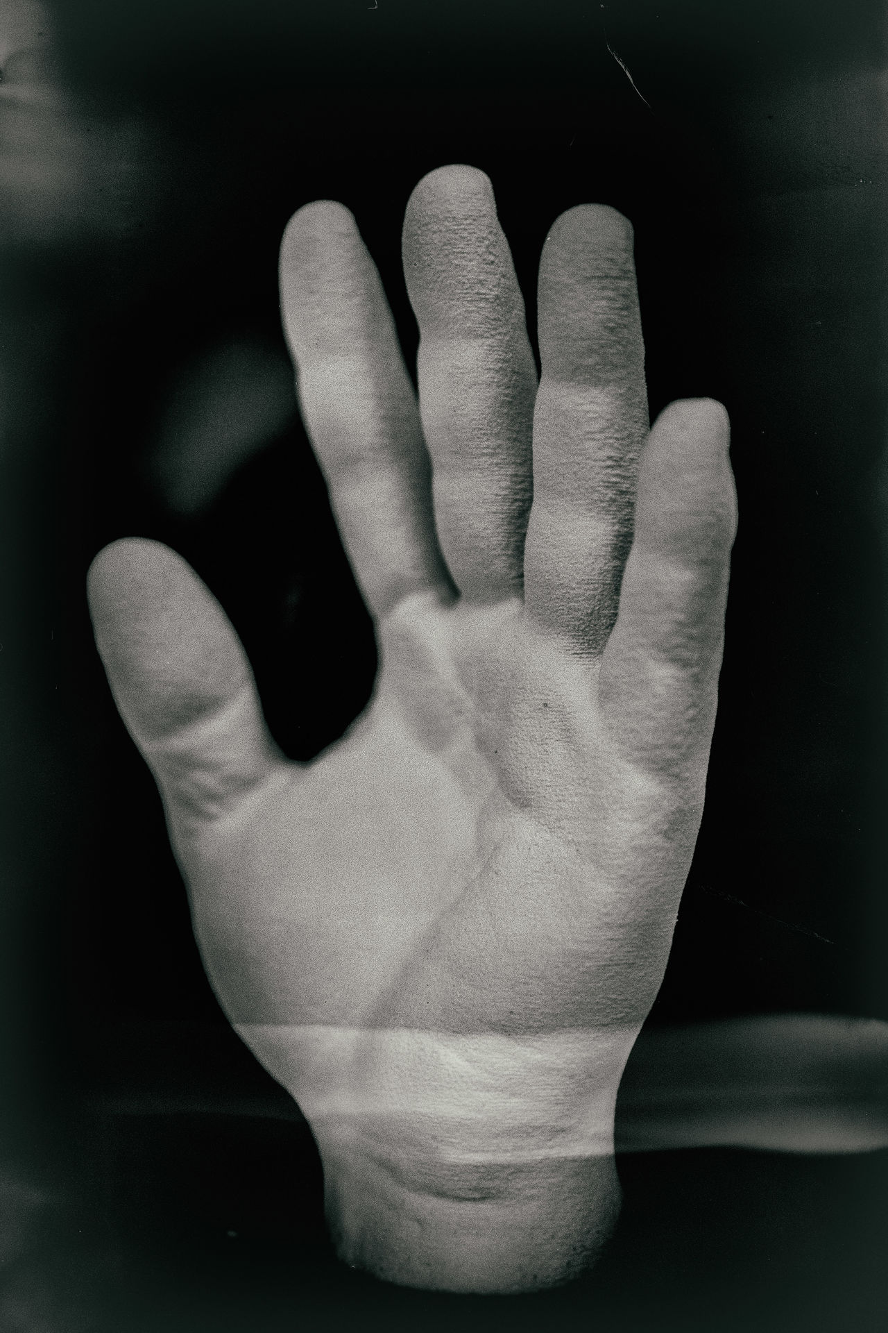 Abstarct Black Background Close-up Dark Finger Tips Fingers Ghost Human Body Part Human Hand Indoors  Man's Hands One Man Only One Person Palm Palm People White Hands