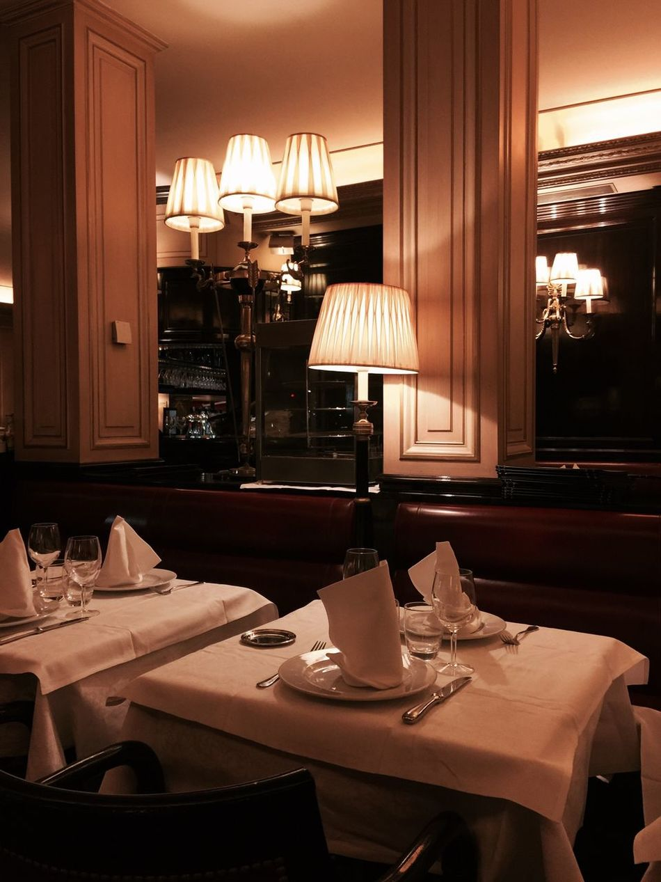 Indoors  Absence Luxury Illuminated No People Hotel Dining Table Chair Day Eating Paris