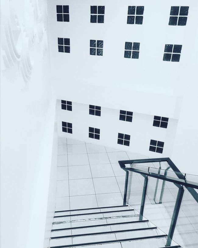 Building Exterior No People Architecture Built Structure Whitewashed Stair Monochrome Minimalism