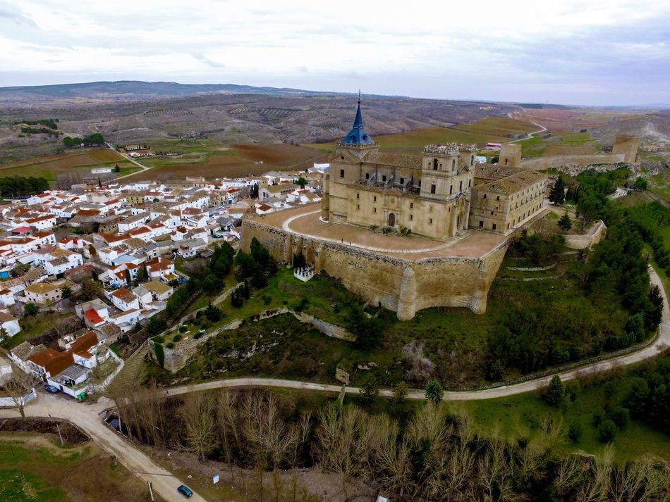 Monasterio de Uclés Architecture High Angle View Built Structure Building Exterior Aerial View Cityscape No People Travel Destinations Outdoors Tree Sky Day City Drone
