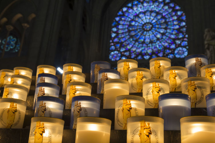 Prayer candles at Notre Dame, Paris, France Bright Cathedral Catholic Christianity Church Faith Pray Spirituality Candle Candlelight Catherdral Catholicism Colorful Culture Holy Illuminated Indoors  Notre Dame Ornate Place Of Worship Praying Religion Spirituality Votive Wax