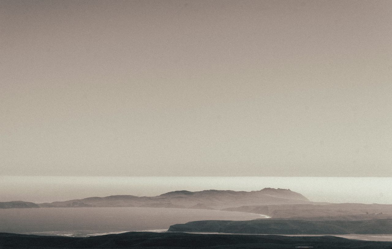 Mountain Nature Beauty In Nature Tranquility Scenics Tranquil Scene No People Outdoors Day Fog Landscape Sea Sky Rural Poetry Inverness Mount Vision