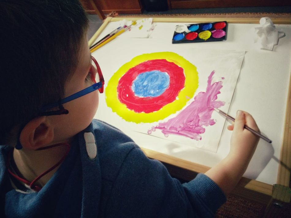 Creativity Childhood Painting KandinskyArt Kandinsky Circles Painting Art Painting In Progress Creative Occupation Colours Colours And Patterns Paint Vibrant Color Watercolor Painting Multi Colored Art And Craft Art, Drawing, Creativity