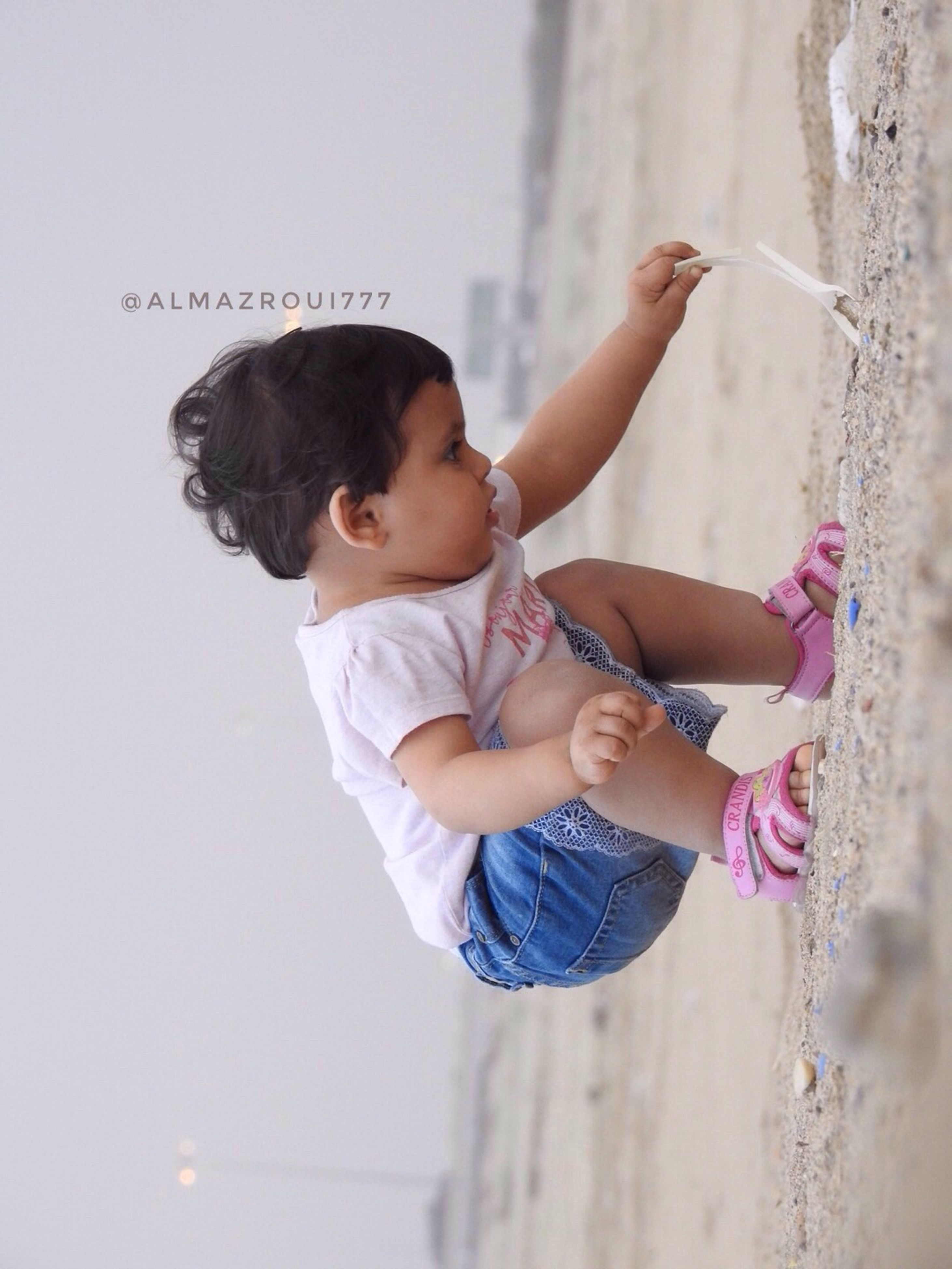 one person, baby, childhood, real people, babyhood, lifestyles, full length, climbing, day, outdoors, people