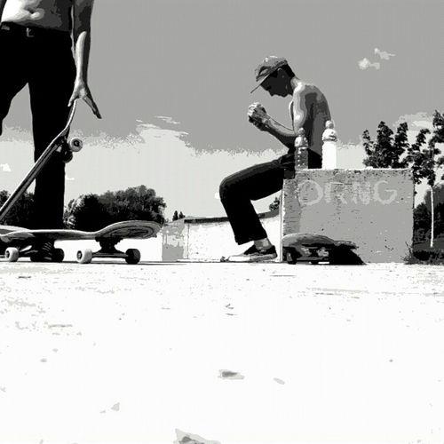 Skateboardingisfun Skateboarding Blackandwhite