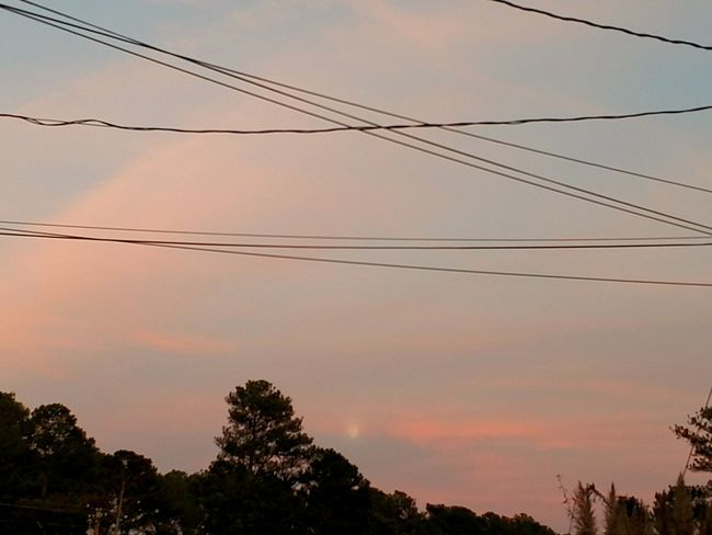 Sunset Power Line  Cloud Outdoors Majestic Nature Cloud - Sky Pink Cloud Hour Sky Moon Moon Through Clouds Sunset_collection Moon And Clouds Moonset Moonphotography
