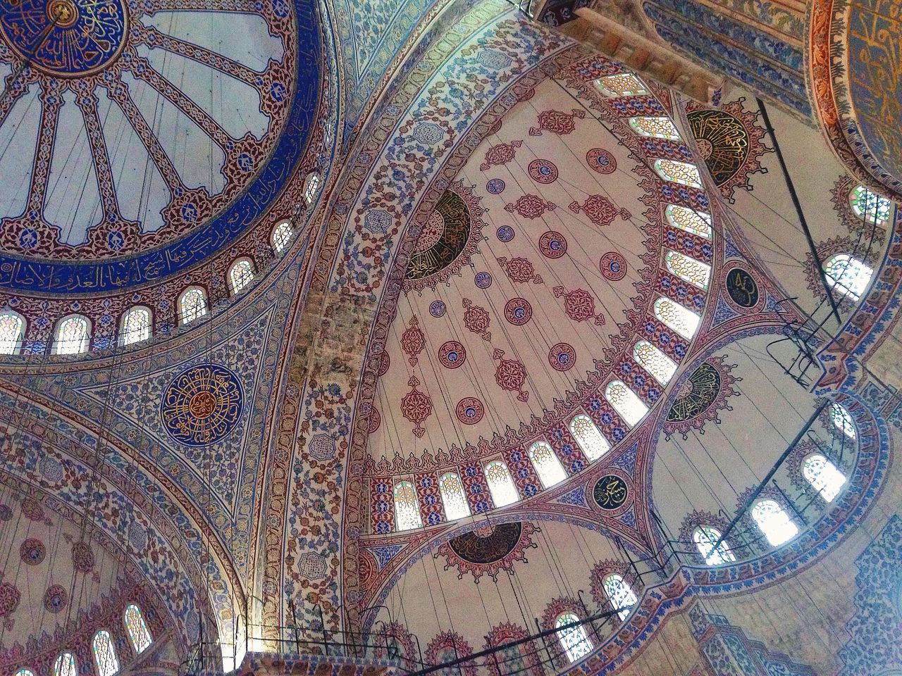 architecture, indoors, ceiling, travel destinations, dome, tourism, low angle view, built structure, history, place of worship, religion, no people, day, architectural design, close-up