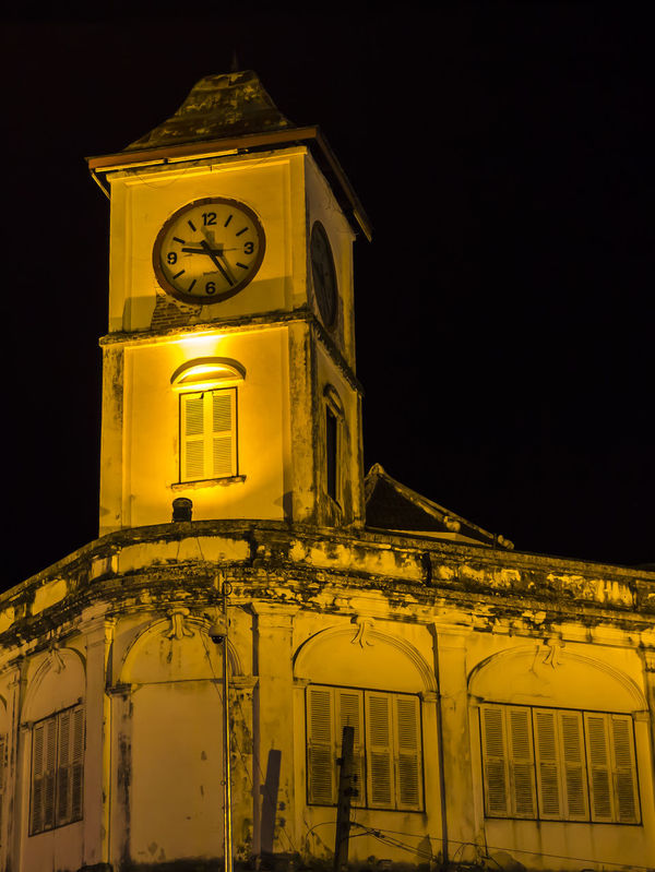 Old clock tower at night Ancent Antique Architecture Background Building Exterior Built Structure Century Chino City Classic Clock Clock Tower Contemporary Decoration Historic Lighting Night Old Buildings Time Tower Travel Urban Window