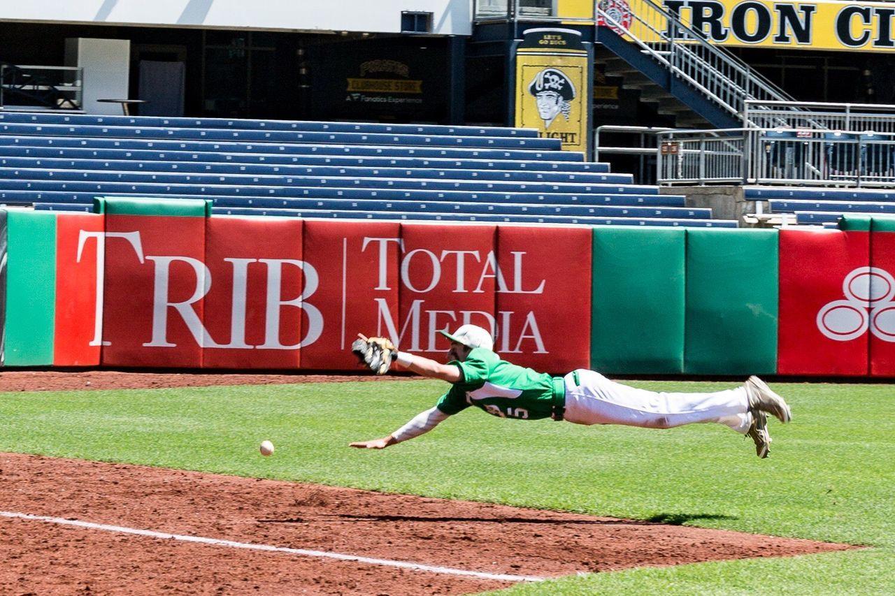 Baseball great catch, horizontal, summertime sports Pittsburgh Pirates