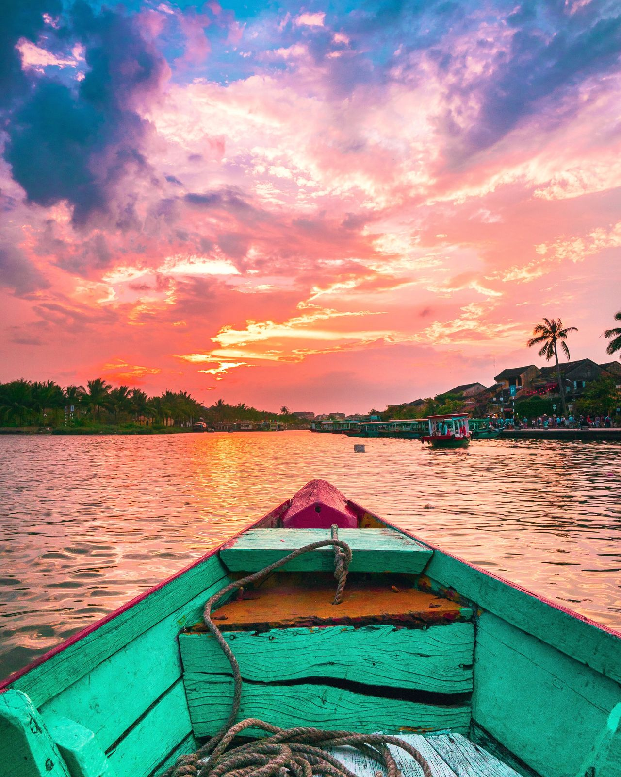 You were right Captain Dan. It was a beautiful sunset! Nautical Vessel Sky Beauty In Nature Nature Outdoors No People Sunset Lake Cloud - Sky Water Tree Day River Clouds Vietnam Boat