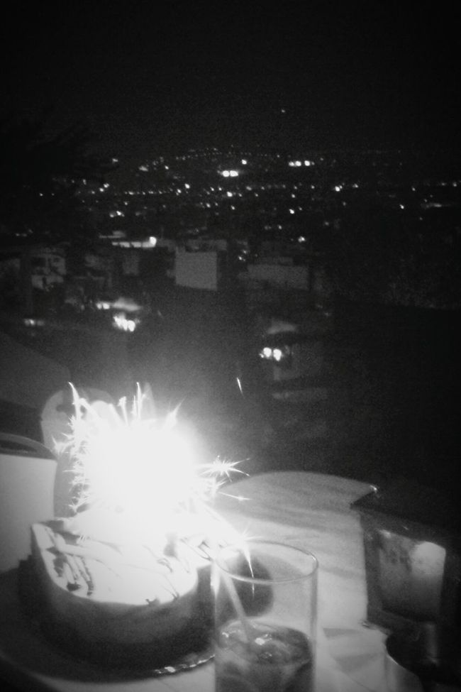 Celebrating My Birthday On The Top Of Athens Birthday Cake Original Experiences Summer Nights Birthday Candles 43 Golden Moments City Lights City View  Black And White Capture The Moment Showcase June Urban Exploration The Mix Up From My Point Of View We_love_athens Dark