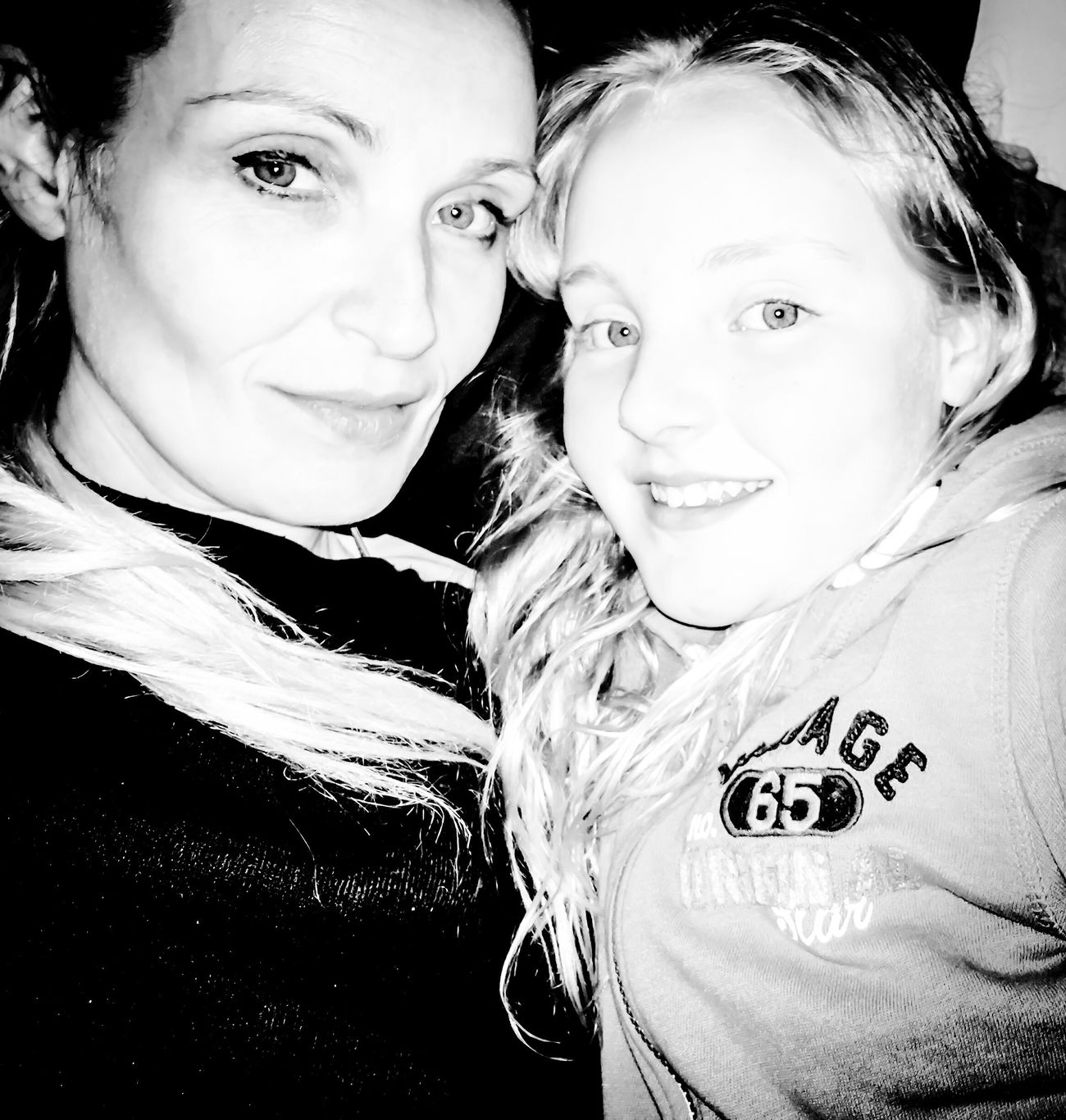 Me & My Girl  My Daughter The Wee One Black And White Mother & Daughter Black And White Photography Women Of EyeEm Scotland Love Family Mini Me Relaxing Hanging Out She's Actually Smiling, Not Pulling A Face! Girl
