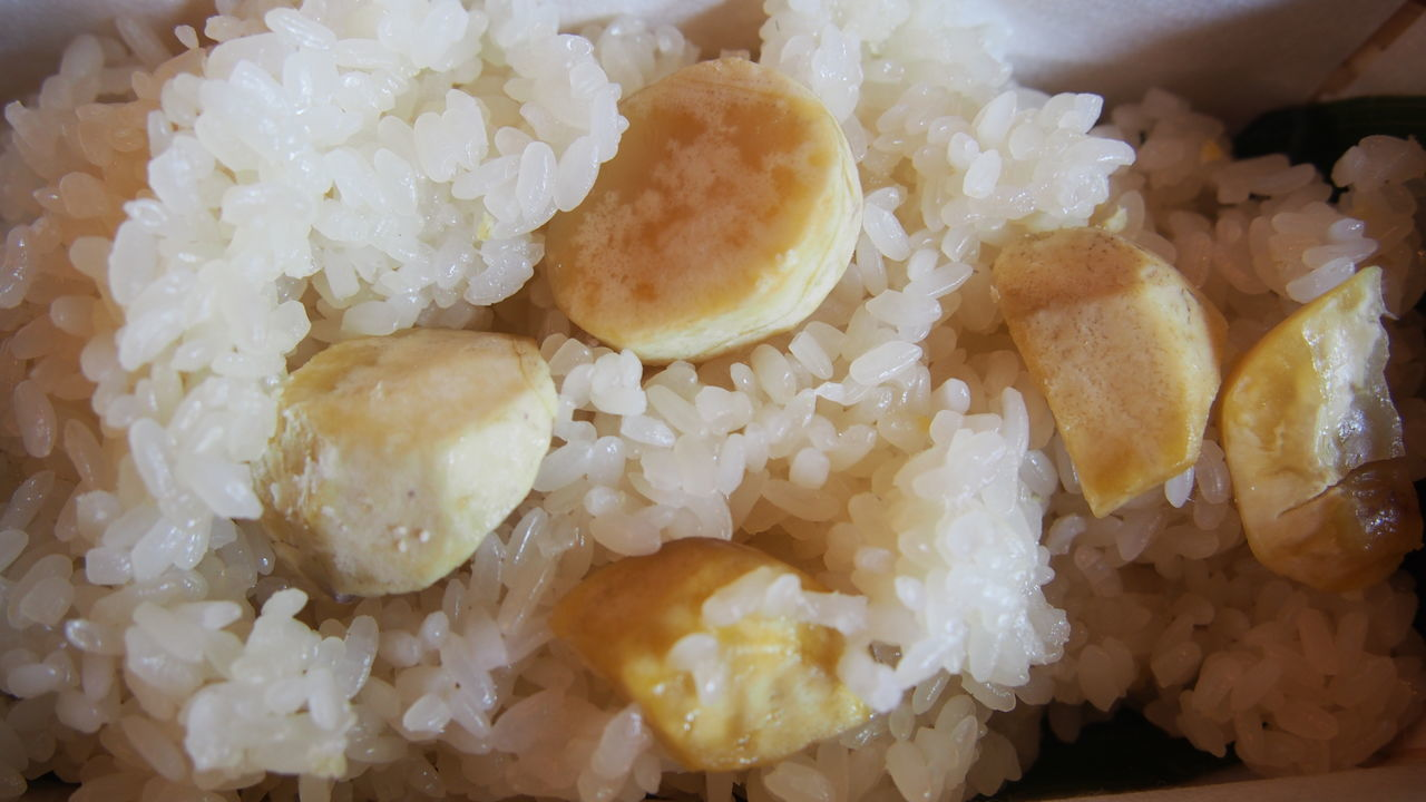 Boiled Close-up Day Egg Yolk Food Food And Drink Freshness Fried Rice Healthy Eating Indoors  Indulgence No People Plate Ready-to-eat Rice Rice - Food Staple Serving Size Temptation 栗おこわ Maron Chestnut Okowa Gohan