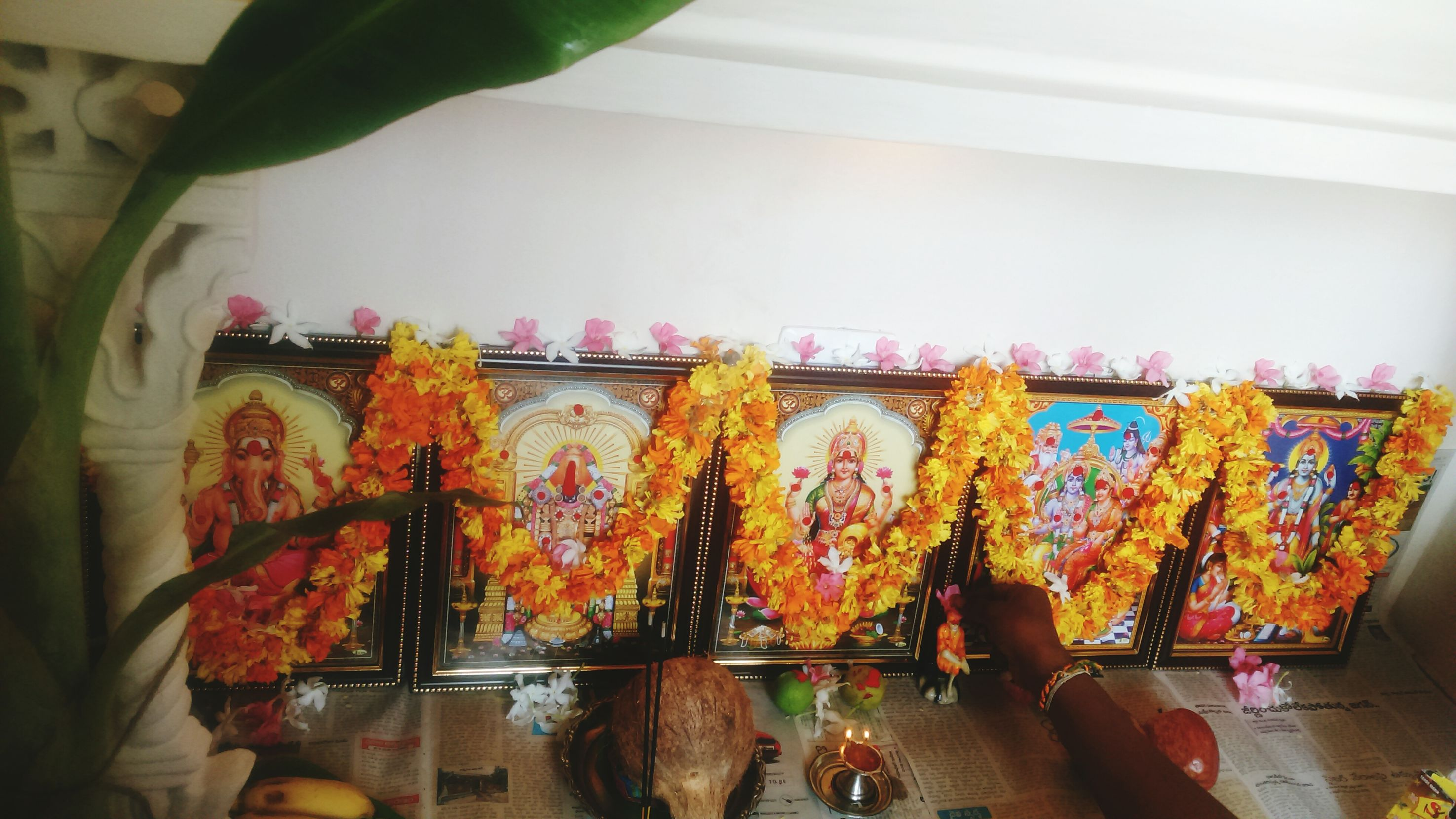Durgapooja2k15 Nellore Morning Tradition Worshiping God Divine