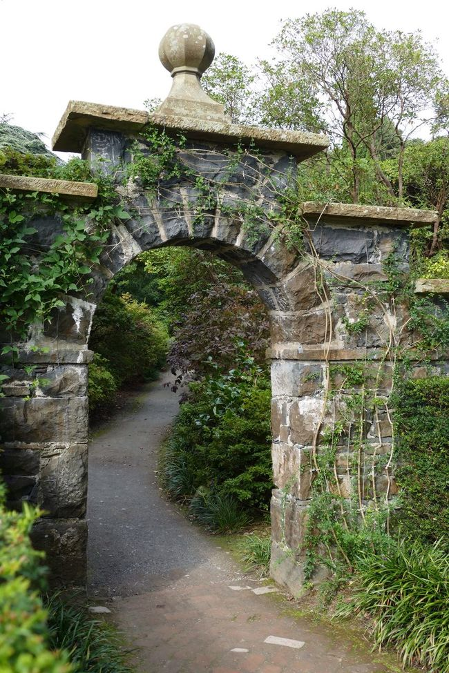 Path Pathway Pathways Paths Arch Landscape Landscape_Collection Walkway Stone Material Outdoors Footpath Ornamental Garden