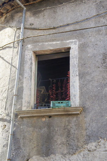 Calabria (Italy) Day Drying No People Outdoors Peperoncino Piccante Red Pepper Window