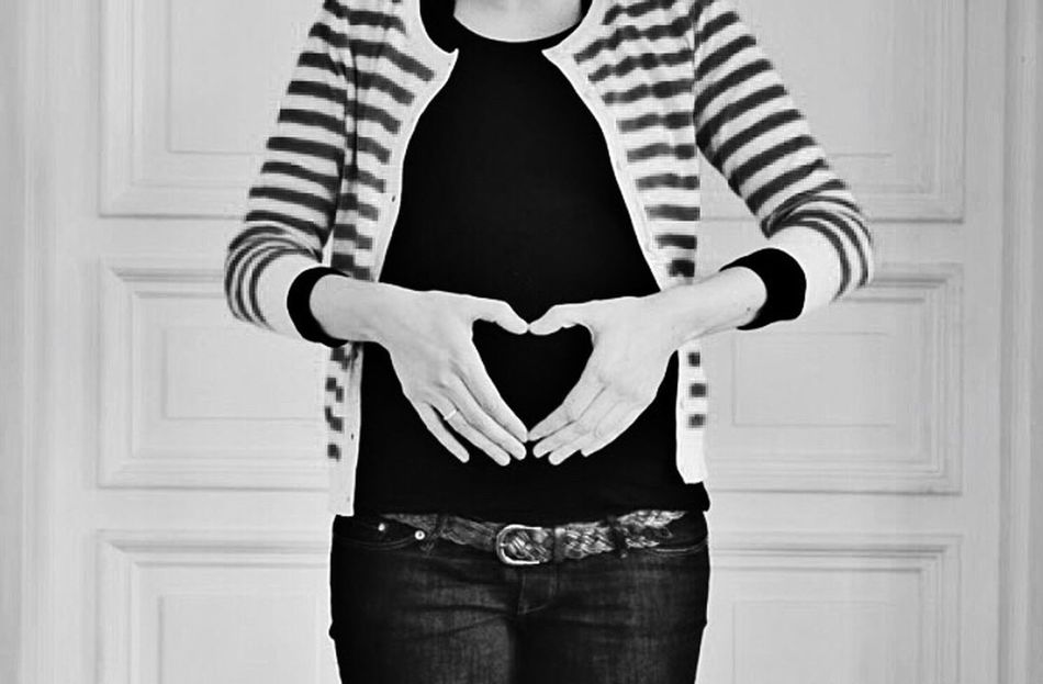Pregnant Pregnant Belly  Heart Excitement Family Kids
