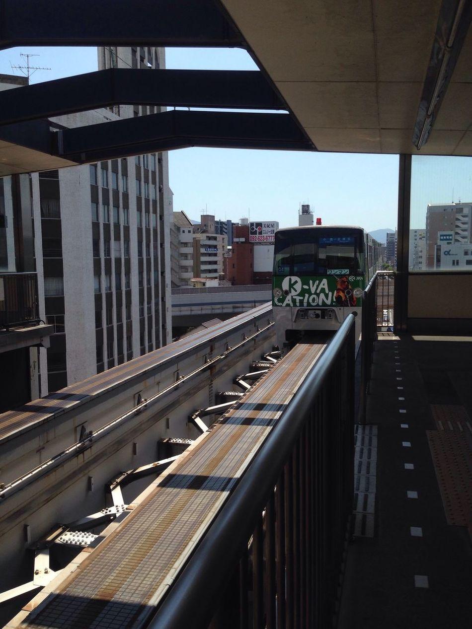 A monorail in Kitakyushu Japan First Eyeem Photo Monorail  monorail train view