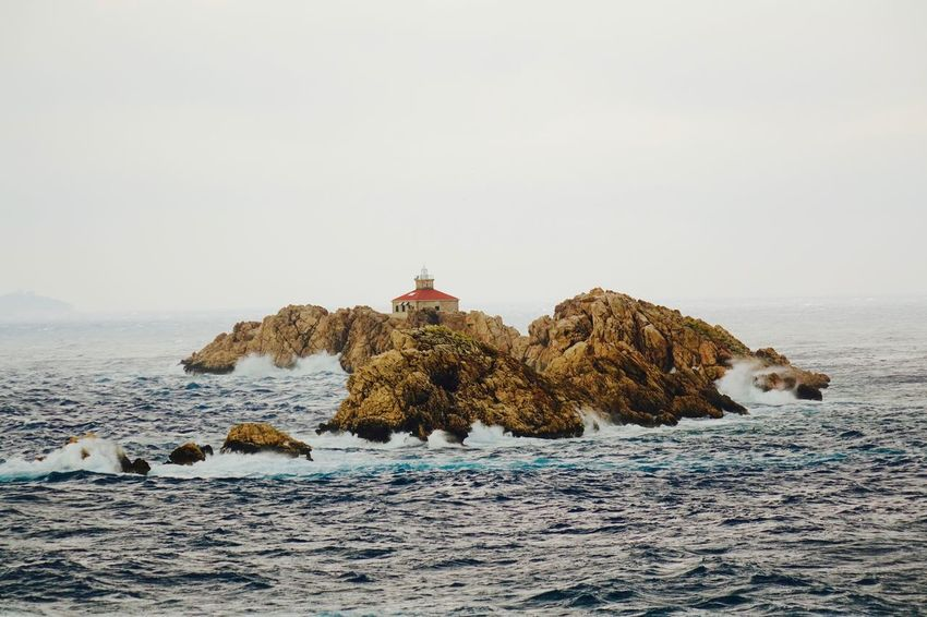 Horizon Over Water Lighthouse Rock - Object Seascape Stormy Weather View From Hotel Dubrovnik Palac Waiting For Droplets Waves Crashing On Rocks