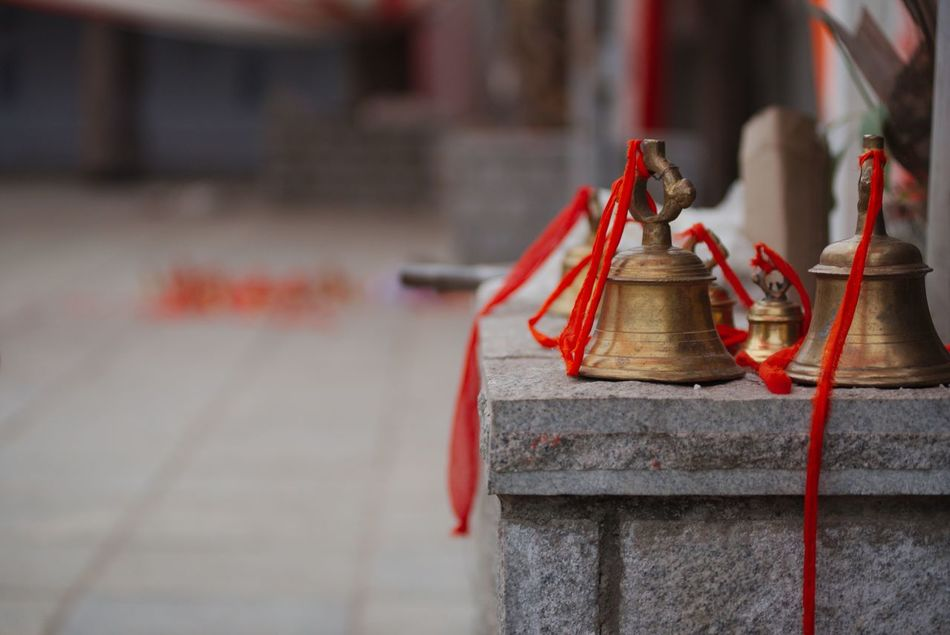 Beautiful stock photos of indien, Bell, Day, Focus On Foreground, Gold Colored