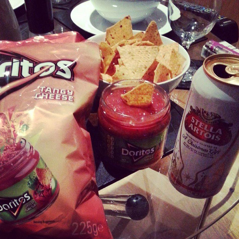 Pofte :) Doritos Lazyiness Dinner Flavor salsa stellaartois tasty