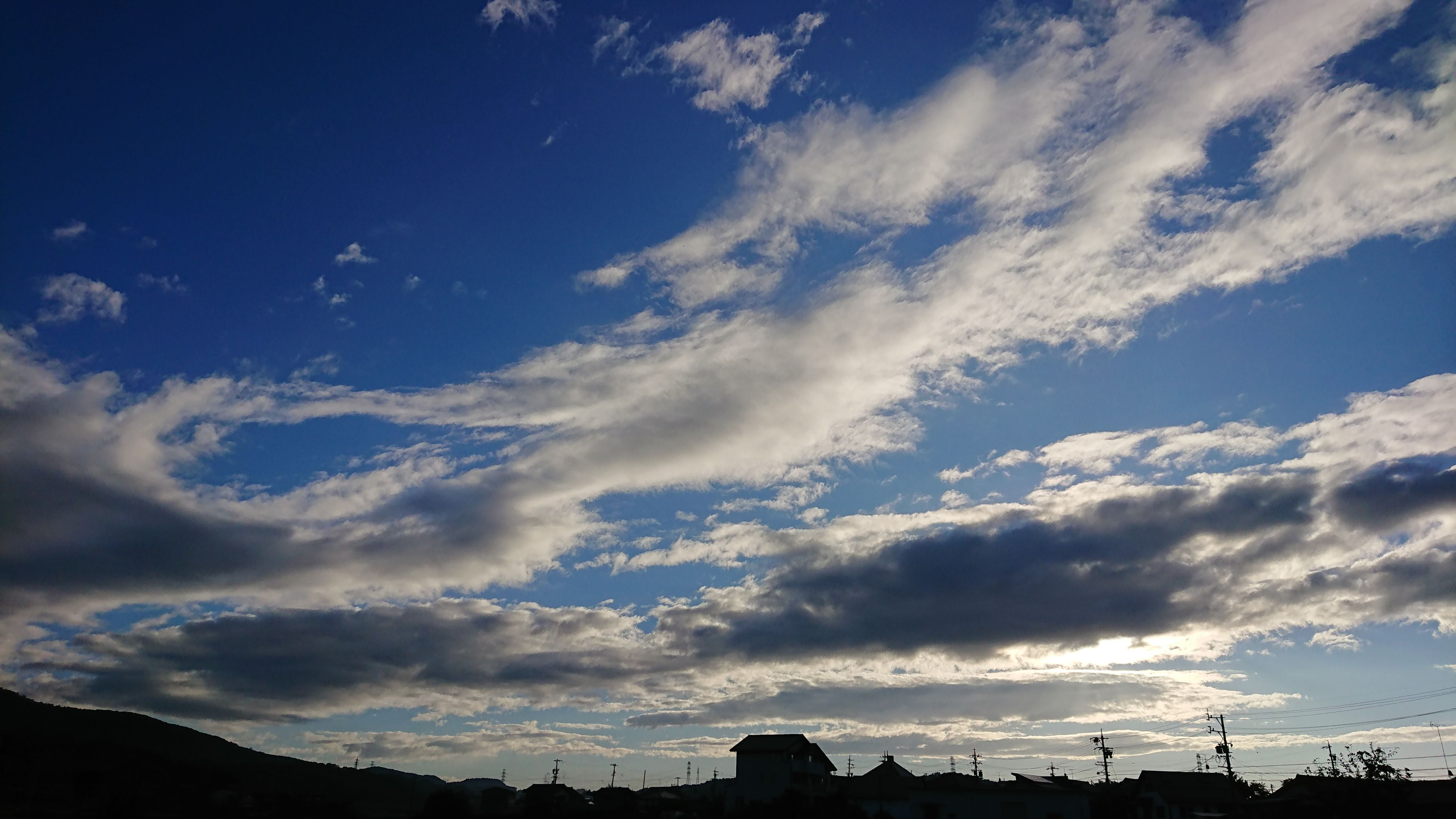 sky, cloud - sky, low angle view, beauty in nature, no people, scenics, nature, silhouette, outdoors, day, blue